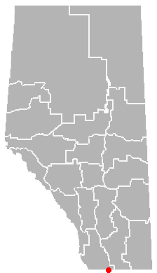 Map location of Carway, Alberta