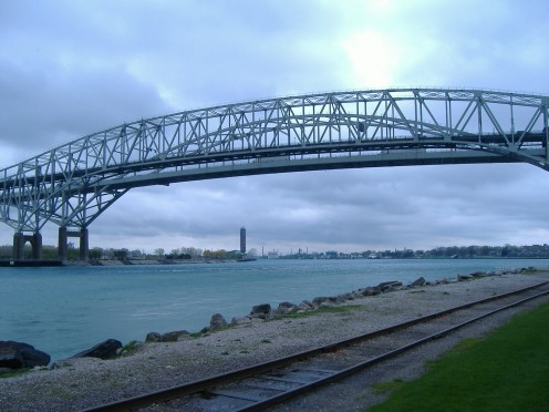 Blue Water Bridge from United States