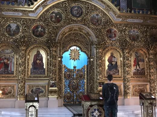 Inside of St. Michael's Golden-Domed Monastery