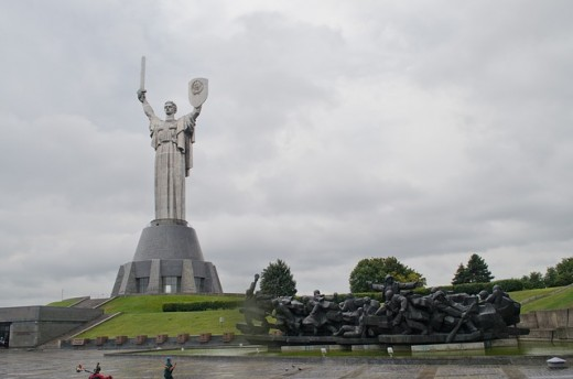 Motherland Monument at The Ukrainian State Museum of the Great Patriotic War