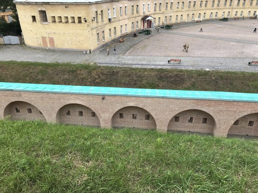 View Looking Into the Fortress From the Rampart