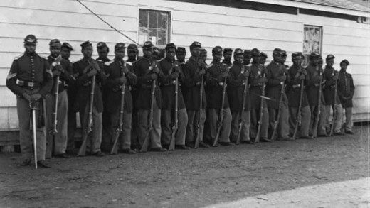 Civil War Battle of Chaffin's Farm: Company I of the 36th Colored Regiment.
