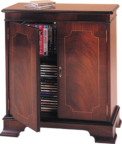 A DVD Storage Cabinet is available in traditional styles