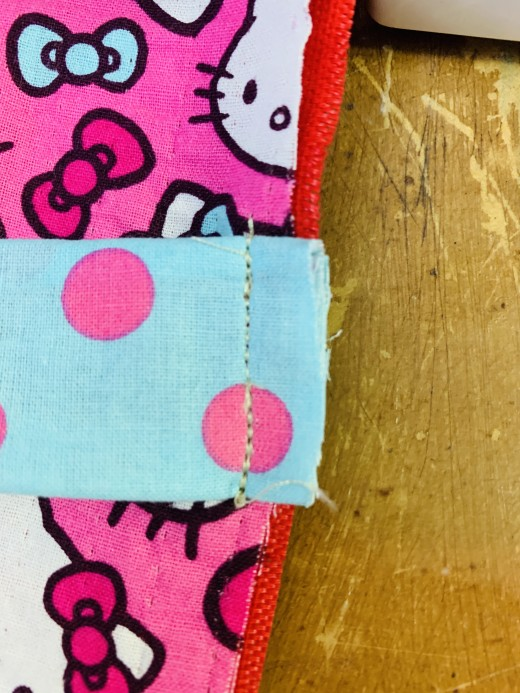 All you need is a straight stitch.