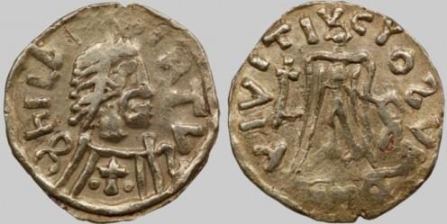 Coin depicting Childebert II