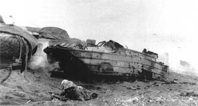 Black Marines at Iwo Jima.