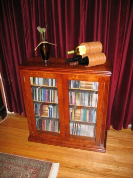 An extremely elegant CD Storage Cabinet.