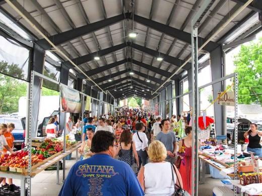 A farmers market in Grand Rapids.