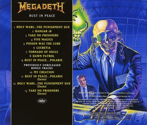 This version of the album Rust in Peace is the re-mastered version of the album and it has the bonus tracks in it.