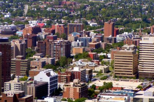 Neighbourhood of Beltline in Calgary, Alberta, Canada