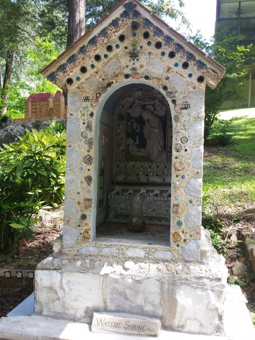 Wayside Shrine. Typical of European and Latin American countries, this Catholic shrine could be found along roads or pathways where travelers stop and offer prayers.