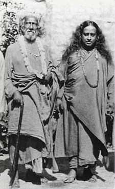 Left: Swami Sri Yukteswar / Right: Paramahansa Yogananda
