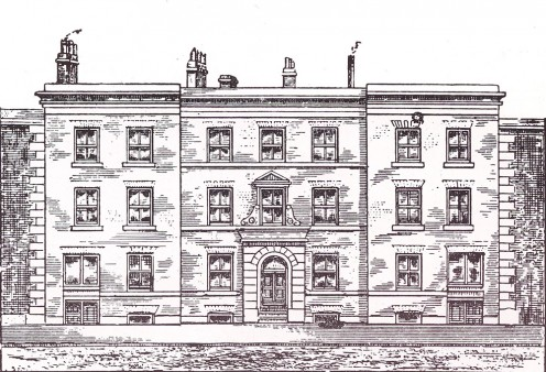 Manchester Mechanics' Institute, Cooper Street, UK (1825)  Source: Shercliff WH. 'Manchester A Short History of its Development' Municipal Information Bureau, Town Hall, Manchester (1960).