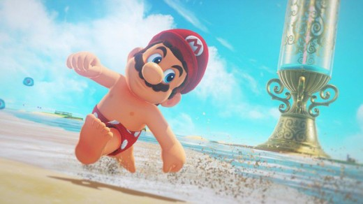 You can strip Mario down to just his boxers if you want to...but why would you want to?!