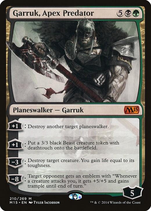 Garruk, Apex Predator mtg