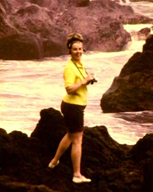 Mom in Hawaii.  One of her favorite places to visit. She loved the ocean and travel.