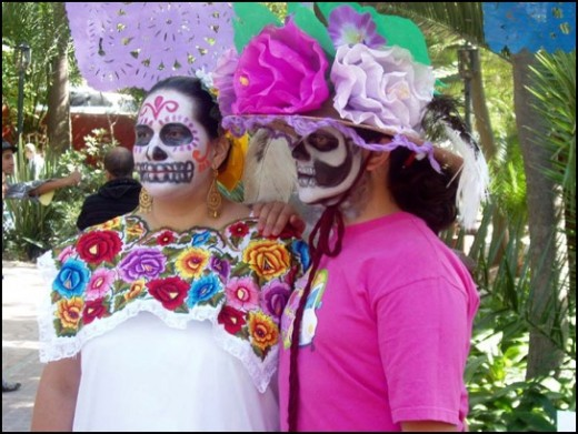 Face painting is becoming increasingly popular.