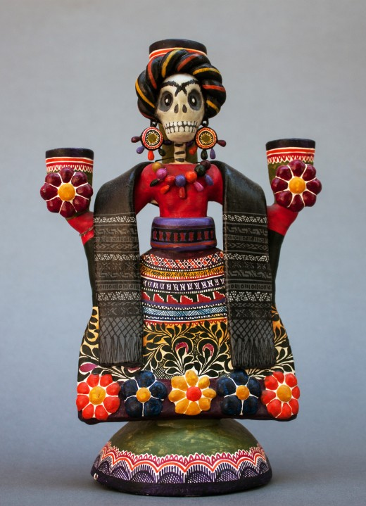 A Catrina figure by the Castillo family of artists