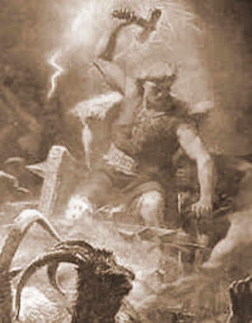 Thor, smites his enemies with Mjolinir