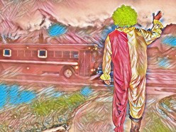 A Suspicious Clown Offered Children Candy at a School Bus Stop