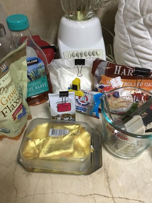Oatmeal Bread Ingredients