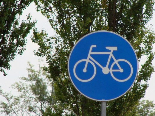 Bicycling Road Sign