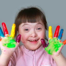 Pic: A child with Down Syndrome