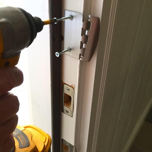 Installing longer screws.
