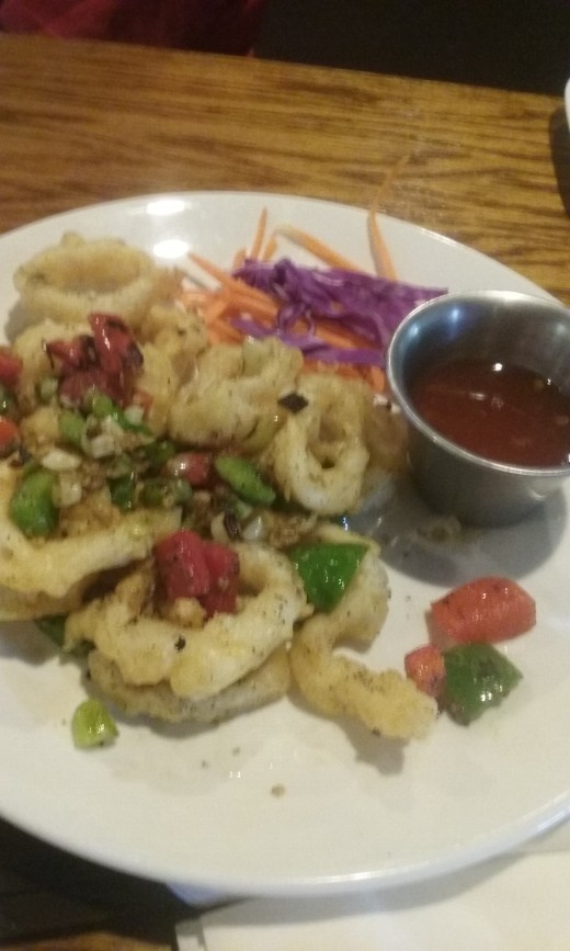 The fried calamari served at Black Ginger Sushi Restaurant, at a cost of $10