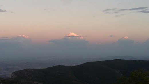 Sunset at the top of Mount Catí, Petrer, Alicante (Spain)