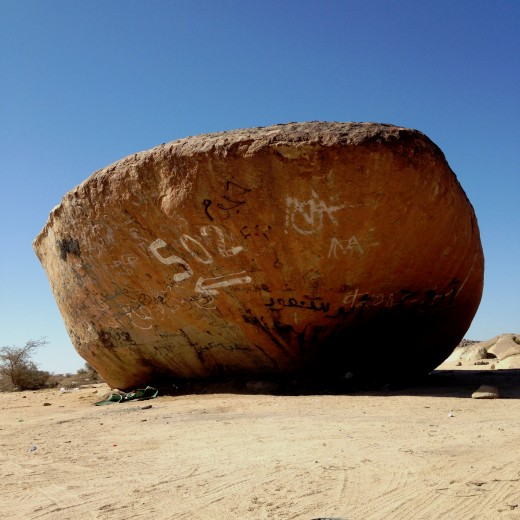 Ready to Sail? A huge monolith resembles the bow of an Arabian dhow.