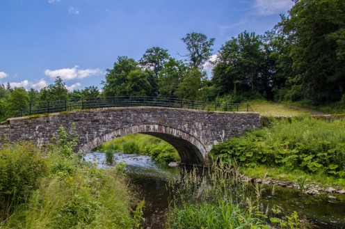 A typical stone arch bridge of early rural days