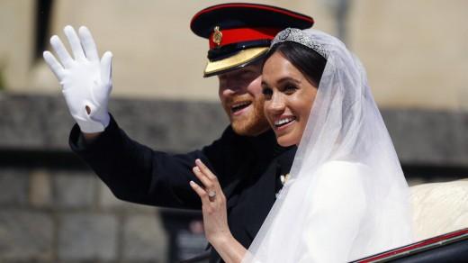 Newlyweds, Prince Harry and Meghan Markle on May 19, 2018