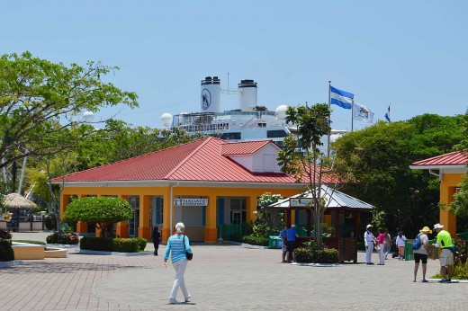 Mahogany Bay has 22 shops and a half dozen restaurants on the property, but nothing else nearby.