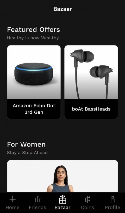 Bazaar in StepSetGo App