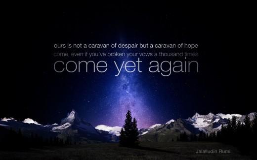 Rumi's beautiful piece