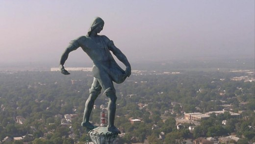 """""""The Sower"""" atop the Nebraska State Capitol, symbolic of the Cornhusker state and heartland America"""