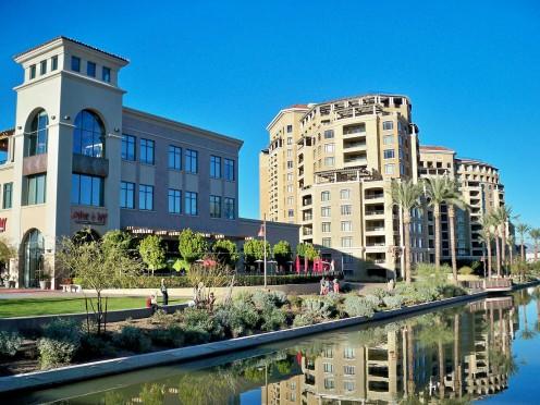 Scottsdale waterfront landscape.
