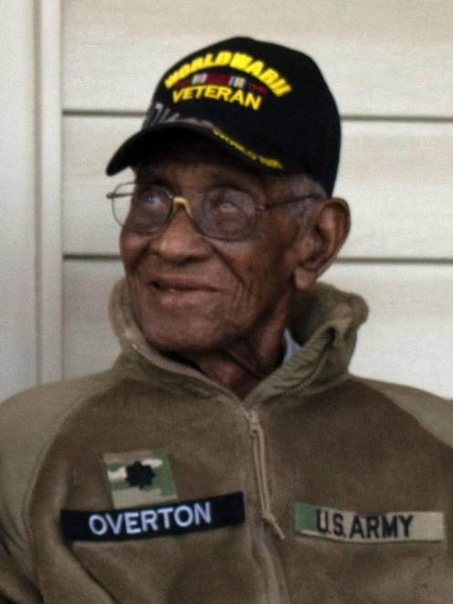 Richard Overton on Veterans Day 2017 at age 111.