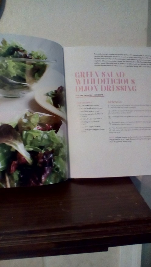 Green salad with dressing.  Kids will eat salad if they prepare it themselves!