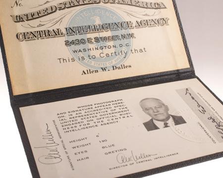 Identification Card of Allen W. Dulles.