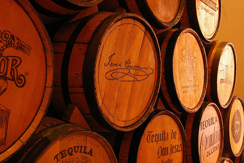 Tequila aging barrels - Photo by mickou on Flickr.com under Creative Commons License