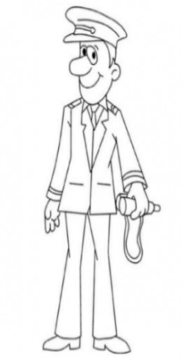 Uniformed Occupations Kids Coloring Pages Colouring Pictures to Print  - the ship captain