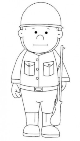 uniformed occupations soldier coloring pages for kids