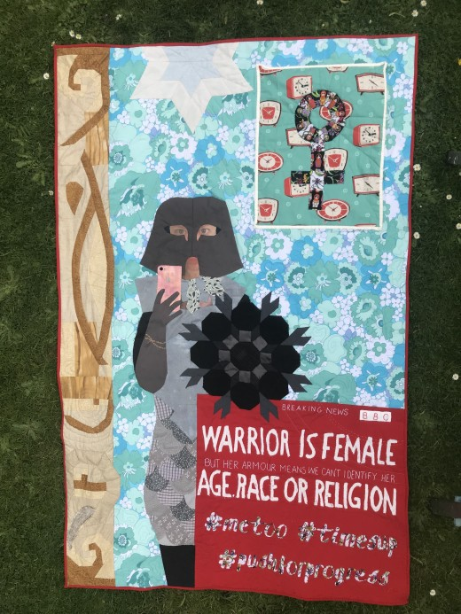 'Warrior Mirror Selfie' Festival of Quilts 2018