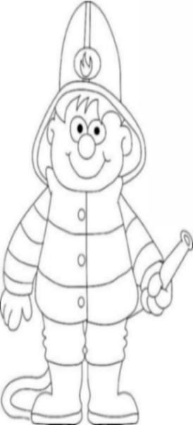 Uniformed Occupations Kids Coloring Pages Colouring Pictures to Print  - the fireman
