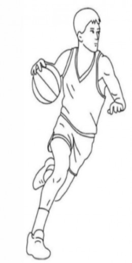 Uniformed Occupations Kids Coloring Pages Colouring Pictures to Print  - the basketball player
