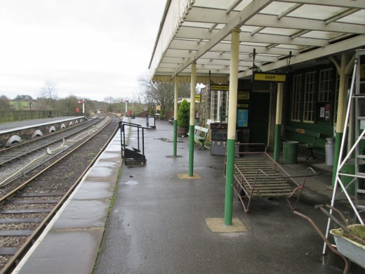 Embsay Station on an overcast winter Saturday afternoon (26/1/2019). I was here to attend the NER 1903 Aut6ocar AGM, as I'd been when the project started ten years earlier with Stephen Middleton presiding