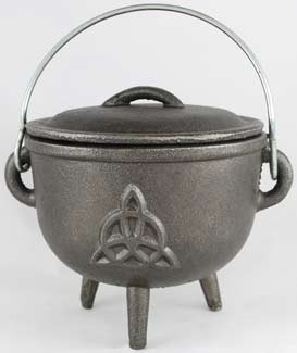 Triquetra cauldron, $24.94 (great price- a new age shop would charge upwards of $30-40 for a cauldron this size).