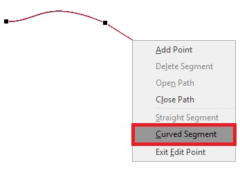 Figure 8: Curved segment